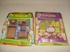 Vintage Activitoys DOLL HOUSE PLASTIC FURNITURE W/BOX RARE ODD SETS