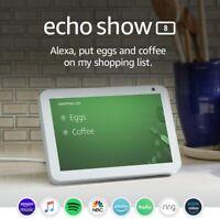 Amazon - Echo Show Smart Display with Alexa  8, White