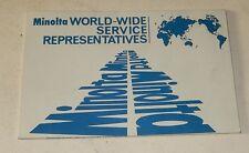 MINOLTA World-Wide Service Representatives - Service Après-Vente Monde entier