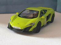 MCLAREN 675LT GREEN PERSONALISED PLATES NEW BOYS Toy Car MODEL BIRTHDAY GIFT!
