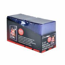 100 Pack Card Sleeves Clear Hard Plastic Protector Top Loader Baseball Trading