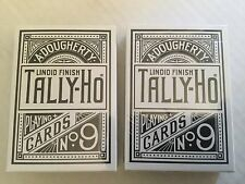 Tally-Ho - White Edition 2-Set Playing Cards (Circle & Fan Back) Penguin Magic