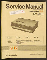PANASONIC NV-2000 Original VHS Videorecorder Service-Manual/Diagram/Parts List