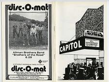 ALLMAN BROTHERS BAND Edgar Winter JACK BRUCE Dave Edmunds 1981 Concert Program