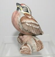 Boehm Porcelain Red Poll 495 D Fledgling Baby Bird Figurine Statue Made USA