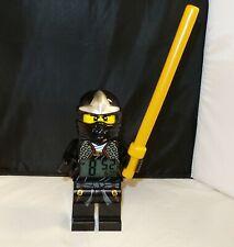 "Lego Ninjago Black Cole Digital Alarm Clock  9.5"" tall Figure with Staff"