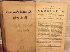 1st Edition of The American Geography Jedidiah Morse 1789
