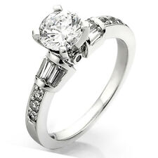 0.33 Carat 14k White Gold Diamond Ladies Semi Mount Engagement Ring 1/3 CT