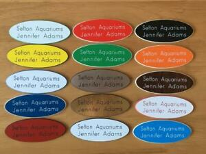 Engraved Oval Personalised staff name badges, shop clubs pub school office-