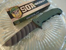 SOA Scout Assisted Open Tanto Tactical Pocket Knife 3Cr13 Green G10 3494 8 5/8""