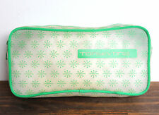 TONY&TINA GREEN TRIM TRANSPARENT MAKEUP PURSE CASE CLUTCH POUCH COSMETIC BAG