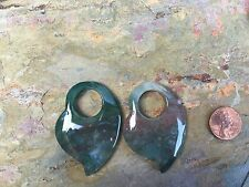 Genuine Jasper Pieces Earring Charms For Hoops Pendants ETC Green Tones