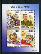 Guinea 2015 MNH Yuri Gagarin 4v M/S Space Astronauts Vostok 1 Youri Gagarine