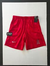 Nike MLB Los Angeles Angels GM Knit Shorts Red Mens Size XL