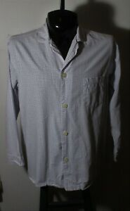 Men's BROOKS BROTHERS Blue Pink Long Sleeve Sleep Shirt Size M