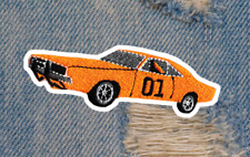 Vintage Style Dukes of Hazzard General Lee 01 Patch Badge 11cm