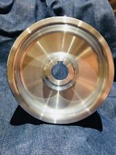 """Belt Grinder Knife Grinder 6"""" Drive Wheel Crowned 7/8"""" Bore 6061 Aluminum"""