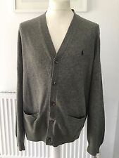 Ralph Lauren Mens Merino  wool Cardigan XL