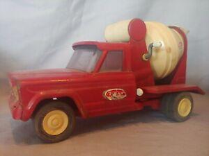 Vintage 1960's Tonka Cement Mixer Dump Truck Red & White