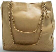 CHANEL Tasche Schultertasche Shoulder Bag Beige Sac Porte Epaule Zeitloses Model