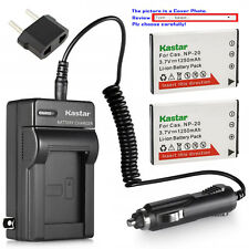 Kastar Battery AC Charger for Casio NP-20 BC-11L & Casio Exilim EX-Z65 EX-Z75