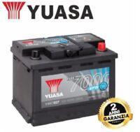 YBX7027 BATTERIA AUTO ORIGINALE YUASA 12V 65 AH 600A START & STOP POSITIVO DX