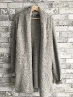 Babaton Wool And Alpaca Beekman Cardigan Sweater Grey Aritzia
