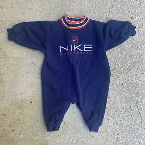 Vintage 90s Toddlers Nike Basketball Embroidered One Piece Size 6-9 Months