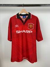 Manchester United 1994 1995 Football Home Shirt Jersey Soccer Red Men's XL Sharp