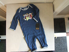 Converse All Star BNWT Designer Baby Boy 6-9 m  Months Cute Boys Blue Baby Grow
