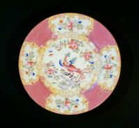 Stunning Minton Pink Cockatrice Bread Plate