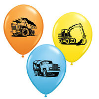 Construction birthday party balloons,construction theme birthday, pack of 12