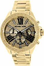 Michael Kors MK6095 Ladies Gold Plated Stainless Steel 42mm Chronograph Watch