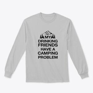 Drinking Friends Camping Gildan Long Sleeve Tee T-Shirt