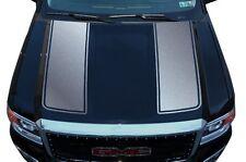 Custom Vinyl Graphics Decal Wrap Kit fits 14-17 GMC Sierra RACING STRIPES Silver