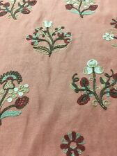 Waverly Willliamsburg Upholstery /Drapery,Esra Cinnamon,crewel ,fabric bty