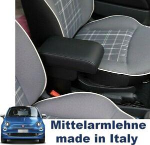 Mittelarmlehne FIAT 500 Schwarz + Staufach + Verstellbar TOP QUALITY made ITALY