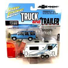 1997 Chevy Tahoe and Camper 1:64 Diecast SUV & Trailer Johnny Lightning JLSP019
