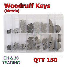 Assorted Box of Woodruff Keys - Wood Ruff Metric 2 2.- 8mm Gears Motor Qty 150