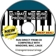 MIDI Production Software – Produce Audio With Advanced Production Software CD