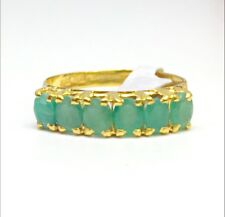 14k Solid Yellow Gold Genuine Emerald Ring