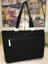VERA BRADLEY WORK TOTE XL LARGE LAPTOP TRAVEL BAG CARRY ON TOTE $118 BLACK