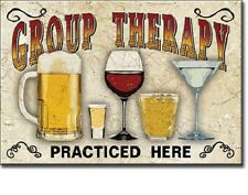 """2"""" X 3"""" GROUP THERAPY PRACTICED HERE BEER & WINE REFRIGERATOR MAGNET NEW"""