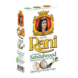 Rani Ayurveda Original Sandalwood Soap With Coconut Cream & Vanilla Ceylon 90 g