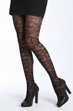 Spanx Lovely Lace Control Top Black Tights Size G