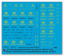 Peddinghaus 2183 1//87 etiquetas para todos locomotoras diesel del tipo D 311
