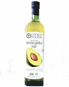 Naturally Refined Avocado Oil - Chosen FOODS - For Cooking & Frying  1litre