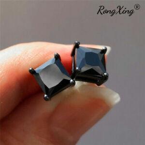 Gorgeous Cubic Zircon Flower Stud Earrings Women 925 Silver Wedding Jewellery