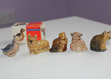 WADE WHIMSIES - SET TWO of Red Rose Tea Canada - Red Box - Nos 6 - 10 - 1972