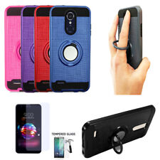 Phone Case For LG Xpression Plus Tempered Glass - Cover Ring-Stand